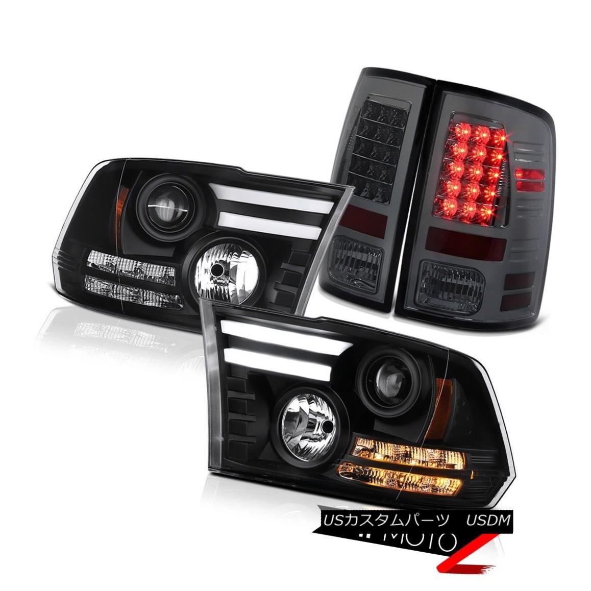 テールライト 09-18 Ram 1500 2500 3500 3.0L Phantom smoke taillamps nighthawk black headlamps 09-18 Ram 1500 2500 3500 3.0Lファントム・スモーク・テールライト・ナイトホーク・ブラック・ヘッドランプ画像
