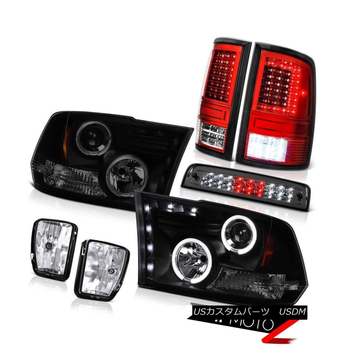 Black 2006 Dodge Ram 1500 Pickup Headlights+Tail Lights Brake Lamps Left+Right