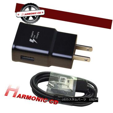 エアロパーツ Fits Samsung Galaxy S8 S8 Plus Fast Charging Wall Charger+Type-C Cable Black 三星ギャラクシーS8 S8プラス急速充電壁の充電器+タイプCケーブルに適合ブラック