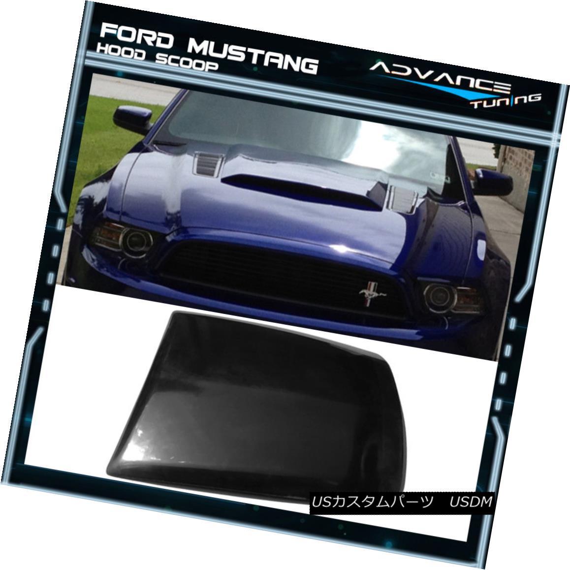 外装・エアロパーツ, その他  For 13-14 Ford Mustang 2Dr V6 GT Boss Air Hood Vent Scoop Unpainted Black PU 13-142Dr V6 GTPU