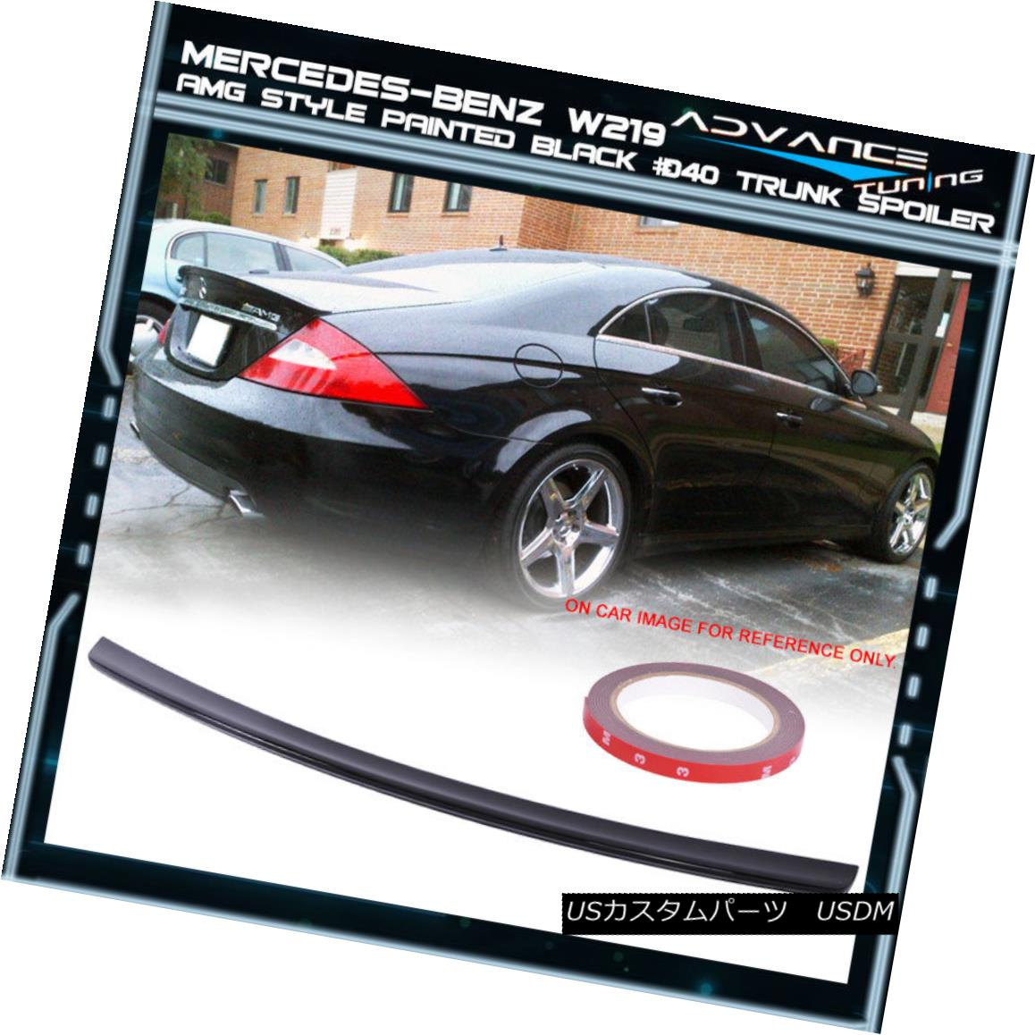15-18 W205 4Dr AMG Style ABS Trunk Spoiler OEM Painted Color Polar White # 149