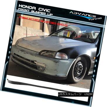 エアロパーツ For 92-95 Honda Civic 2Dr 3Dr OE SIR Style PU Front Bumper Lip Spoiler 92-95ホンダシビック2Dr 3Dr OE SIRスタイルPUフロントバンパーリップスポイラー