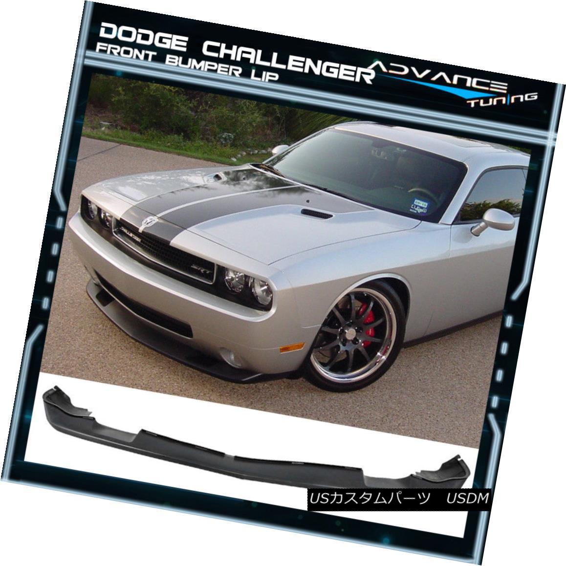 Fits 08-10 Dodge Challenger SRT Style Poly Urethane Front Bumper Lip Spoiler