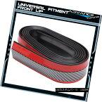 エアロパーツ Universal Fitment Carbon Fiber Look Black Red Front Bumper Quick lip 98 Inches ユニバーサルフィットカーボンファイバールックブラックレッドフロントバンパークイックリップ98インチ
