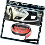 エアロパーツ Universal Fitment Carbon Fiber Look Front Bumper Quick lip 98 Inches ユニバーサルフィットカーボンファイバールックフロントバンパークイックリップ98インチ