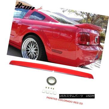 エアロパーツ Fit 05-09 Mustang OE Style Trunk Spoiler Painted ABS # D3 Colorado Red フィット05-09マストゥンOEスタイルトランクスポイラー塗装ABS#D3コロラドレッド