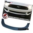 エアロパーツ Fits 15-17 Ford Mustang Front Bumper Lip Under Splitter Unpainted PP 15-17 Ford MustangフロントバンパーリップアンダースプリッターアンペイントPP