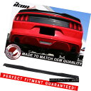 エアロパーツ 15-18 Ford Mustang Coupe H Style High Kick V...