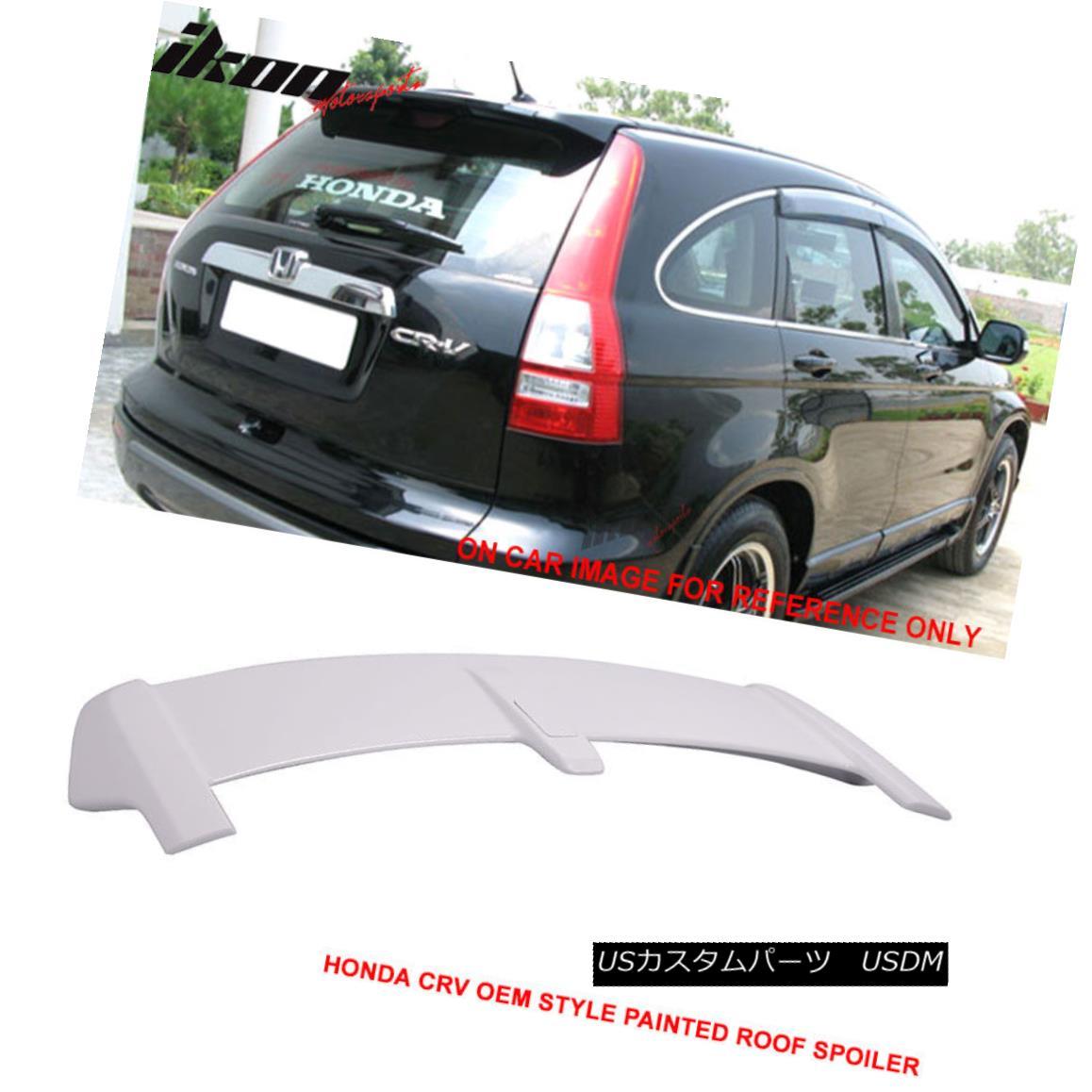 Fits 07-11 Honda CRV OE Style Painted Taffeta White Trunk Spoiler-ABS #NH578