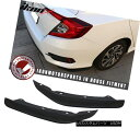 エアロパーツ Fits 16-18 Honda Civic Sedan Rear Bumper Lip...