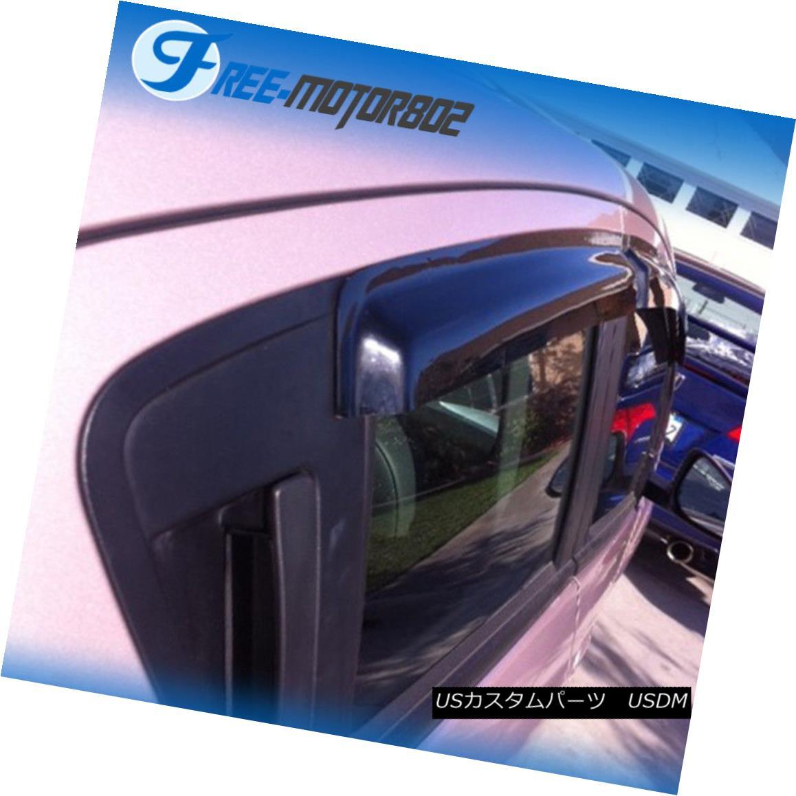 Fits 13-15 Chevy Spark Hatchback Sedan Acrylic Window Visors 4Pc Set