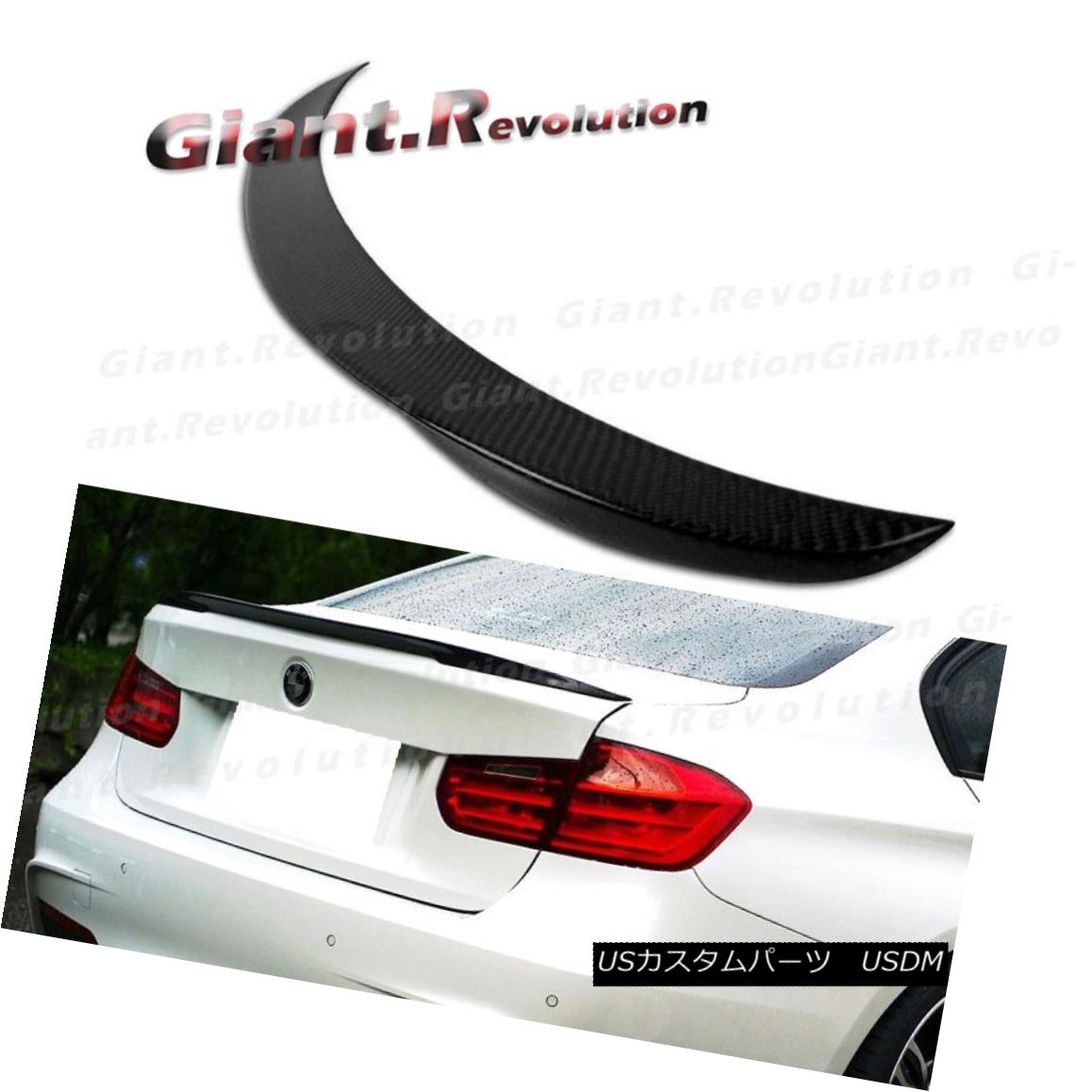 Carbon Fiber Rear Trunk Lip Spoiler Wing P Type For BMW 3-Series F30 4DR