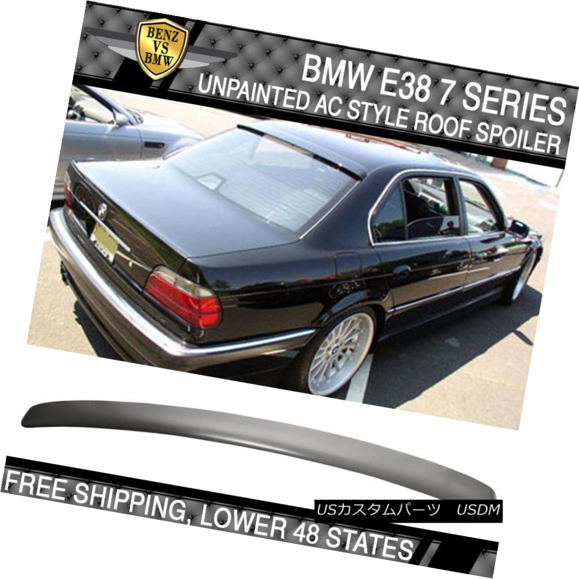 外装・エアロパーツ, その他  95 96 97 98 99 00 01 BMW E38 7 Series 4Dr AC Style Roof Spoiler ABS Unpainted 95 96 97 98 99 00 01 BMW E38 74Dr ACABS