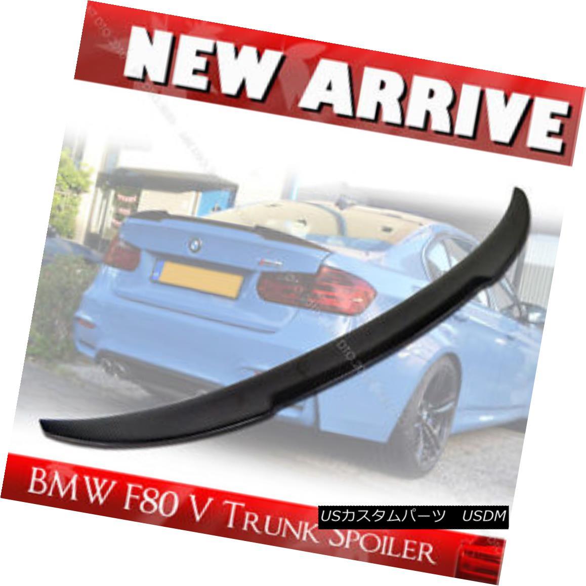 Carbon Fiber V Type Rear Trunk Lip Spoiler Wing for BMW F30 F80 M3 Model 4DR §