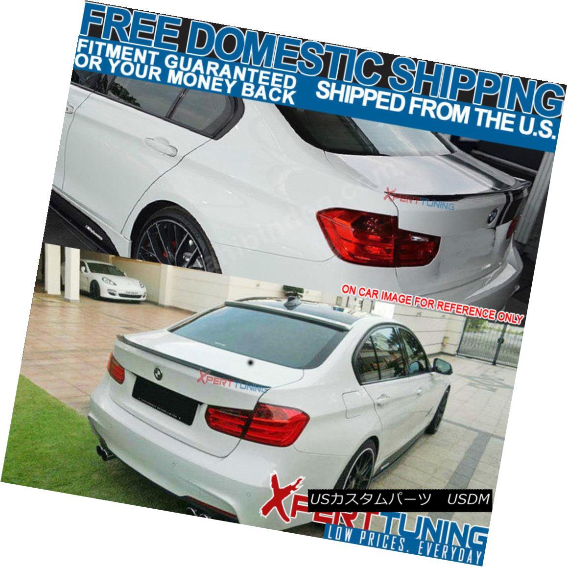 USA Stock 12-18 BMW 3 Series F30 Trunk Spoiler Painted Alpine White III #300