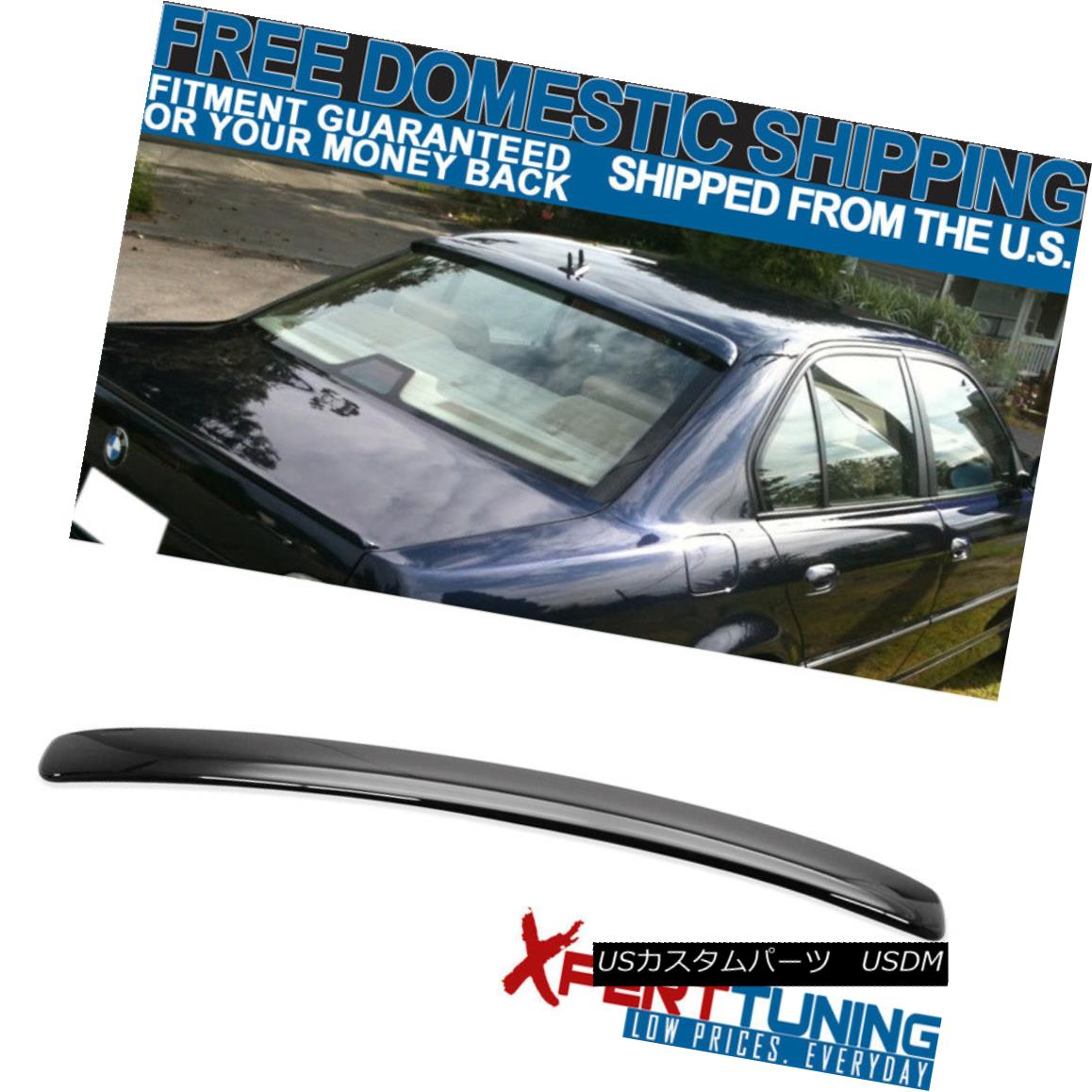 外装・エアロパーツ, その他  95-01 BMW 7 Series E38 4Dr AC Style ABS Roof Spoiler Painted Jet Black 668 95-01 BMW 7E38 4Dr ACABS668