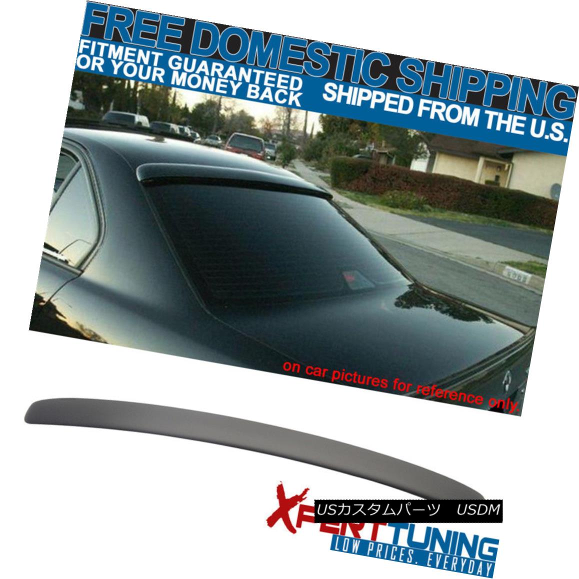 外装・エアロパーツ, リアスポイラー  Fit 95-02 BMW E38 7 Series AC Style Rear Roof Wing Spoiler Painted Matte Black 95-02 BMW E38 7AC