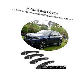 エアロパーツ 8PCS Carbon Fiber Door Outer Handle Bar Cover Trims Fit for BMW X1 F48 2015-2017 BMW X1 F48 2015-2017用8PCSカーボンファイバードアアウターハンドルバーカバートリム