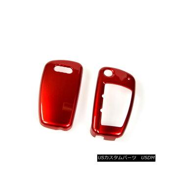 エアロパーツ Red Car Key Covers Smart Remote Key Chain Fob for Audi A6L A1 Q3 Q7 TT R8 A3 S3 Audi A6L A1 Q3 Q7 TT R8 A3 S3のための赤い車キーカバースマートなリモートキーチェーンフォブ