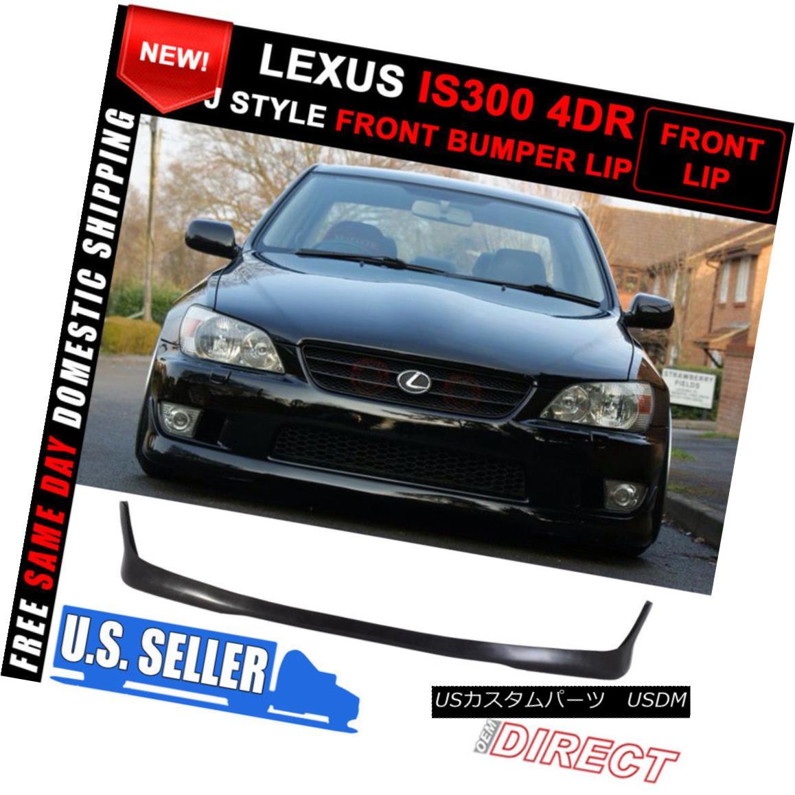 外装・エアロパーツ, フロントスポイラー  For 01-05 Lexus Is300 Altezza Sxe10 Tr Style Front Bumper Lip Spoiler 01-05Lexus Is300 Altezza Sxe10 Tr