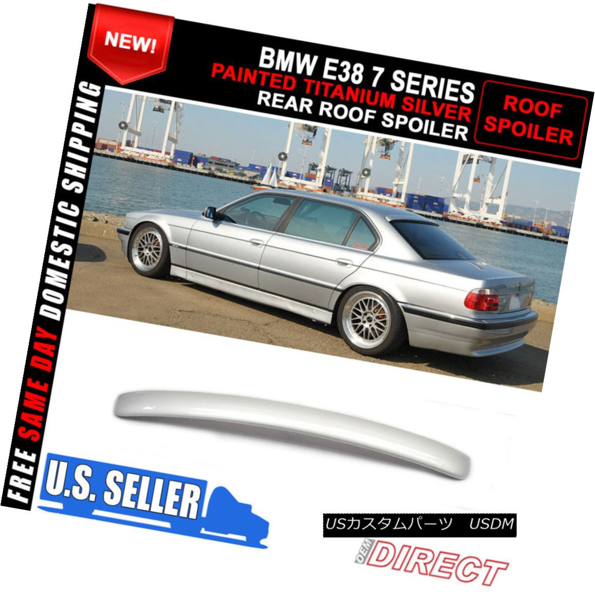 外装・エアロパーツ, その他  95-01 BMW E38 7-Series Ac Style 354 Painted ABS Roof Spoiler 95-01 BMW E38 7AC354ABS