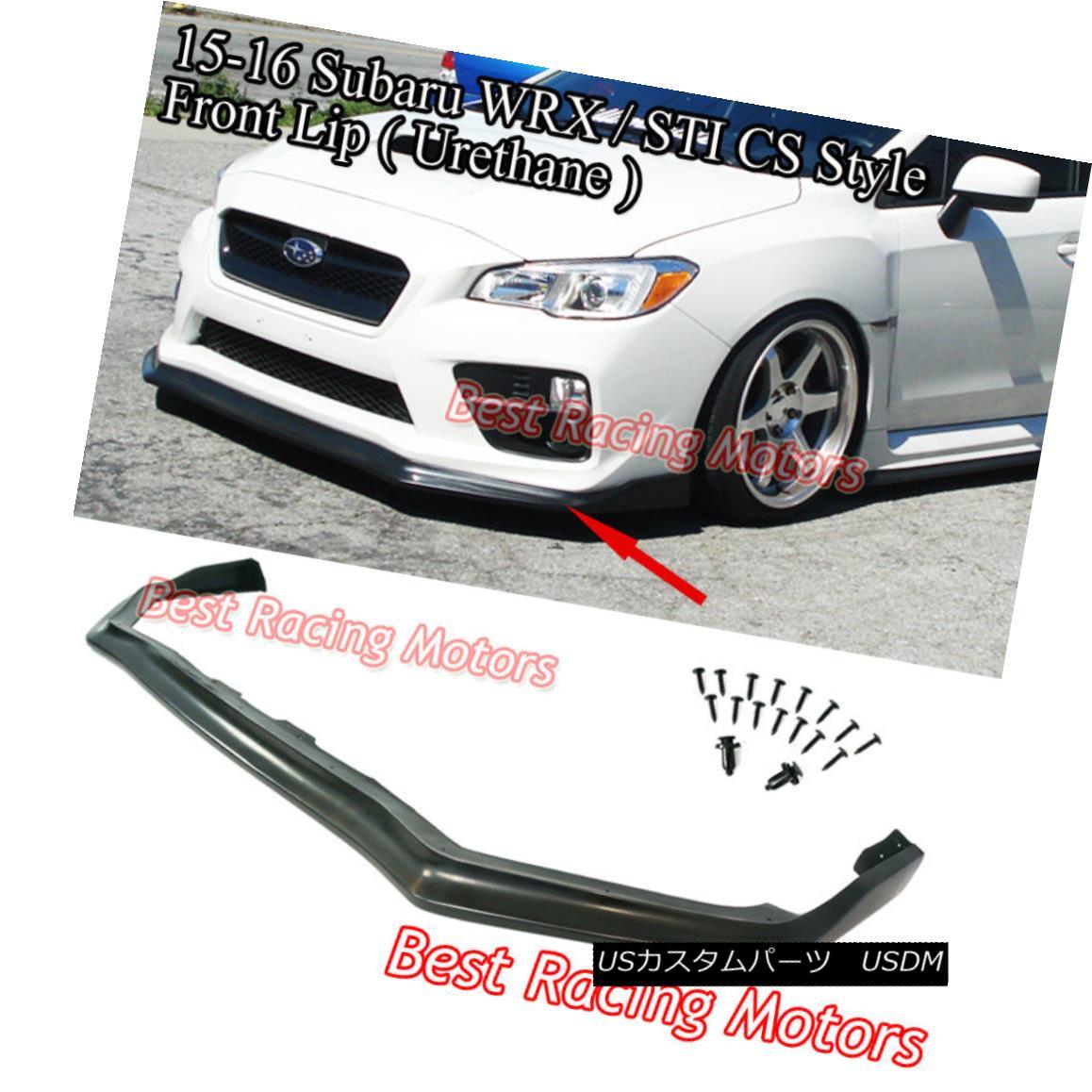 Fits For 15-17 Subaru WRX STI CS Style Front Bumper Lip Spoiler Body Kit PU