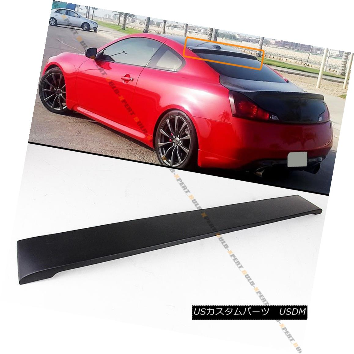 For Infiniti 08 2016 G37 Q60 2dr Coupe Blk Primer Rear Window Roof Spoiler Wing Ushirika Coop