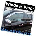 グリル 14-15 GMC Sierra 1500 Double Cab Window Visor Chro...