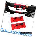 グリル Deluxe Extreme RED Roll Bar Grab Handle Set for 77...