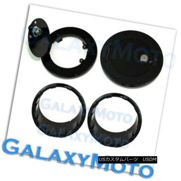 グリル Gloss Black Headlight Bezel+Gas w/Locking+Keys Cover fit 07-17 Jeep Wrangler JK グロスブラックヘッドライトベゼル+ガスw /ロック+キーカバーフィット07-17 Jeep Wrangler JK