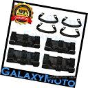 グリル Jeep Wrangler JK TJ YJ Deluxe Extreme Black 8pcs R...