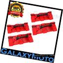 グリル Extreme 4pcs RED Black Rear Side Bar Grab Handle f...