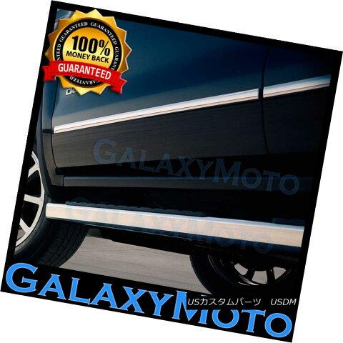 グリル 13-16 GMC Acadia SUV 4 Door set Chrome Body Side Molding Front+Rear 4pcs 13-16 GMC Acadia SUV 4ドアセットクロームボディサイドモールディングフロント+リア4個
