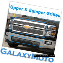グリル 14-15 Silverado 1500 Chrome Upper+Bumper No TOW Ho...