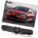 グリル For 15-16 Golf MK7 Mesh GTI Style Black Front Gril...