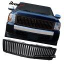 グリル Fits 07-13 Chevy Silverado Vertical Front Hood Bla...