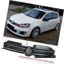 グリル Fits 10-14 Golf MK6 Mesh GTI Style Black Chrome Fr...