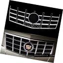 グリル 2012-13 Cadillac CTS CHROME Snap On Grille Overlay...