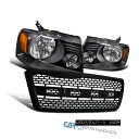 グリル 04-08 Ford F150 Pickup Black Headlights Head Lamps...