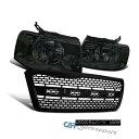 グリル 04-08 Ford F150 Smoke Headlights Lamps w/ Raptor S...