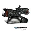 グリル Dodge 06-10 Charger Replacement Smoke Headlights+C...