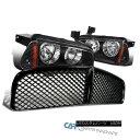 グリル 06-10 Dodge Charger Black Headlights+Corner Lamps+...