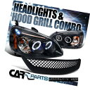 グリル For Honda 01-03 Civic 2/4Dr Black Halo LED Project...