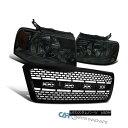 グリル 04-08 Ford F150 Smoke Headlights Head Lamps+Black ...