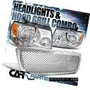 グリル 2004-2008 Ford F150 Clear Crystal Headlights+Chrom...