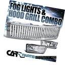 グリル 07-13 Chevy Silverado 1500 Clear Fog Lights Drivin...