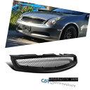 グリル Fit 03-07 Infiniti G35 2Dr Coupe Black ABS Front H...