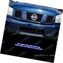 グリル Fits 2004-2007 Nissan Armada/Titan Stainless Black...