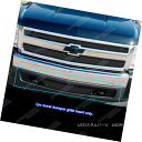 グリル For 2007-2013 Chevy Silverado 1500 Bumper Black Me...