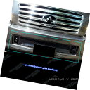 グリル Fits 2004-2010 Infiniti QX56 Bumper Black Mesh Gri...